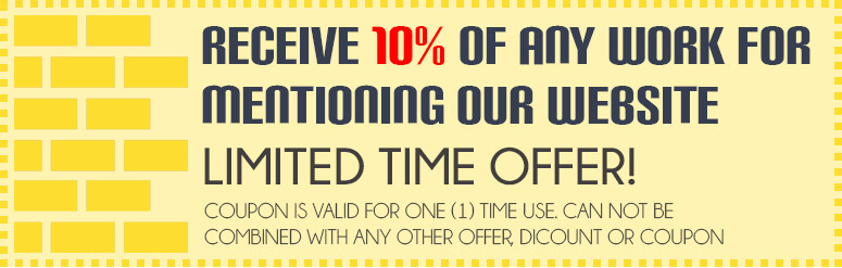 Receive 10% of any work for mentioning our website